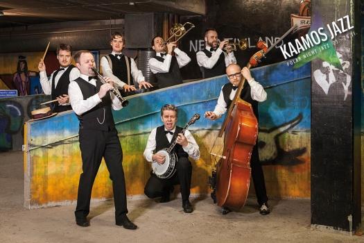 Kenneth Sjöwall's Dixie Dudes, illalliskonsertti, Kaamosjazz, Saariselkä