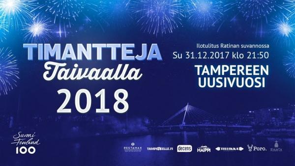 Tampereen Uudenvuoden Ilotulitus Timantteja Taivaalla 2018