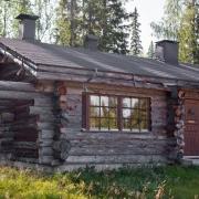 lapland-hotel-luostotunturi-log-cabins-outdoor-at-summer-time